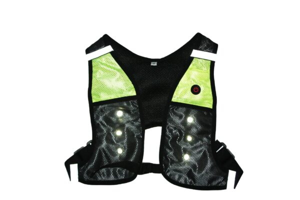 Front of green x-vest.